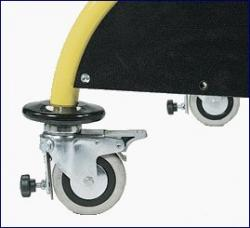 front wheels with adjustable brakes
