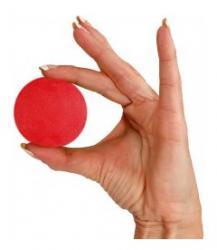26741R - Gripball - red